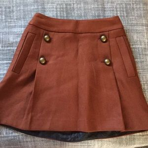 Express rusty orange aline skirt